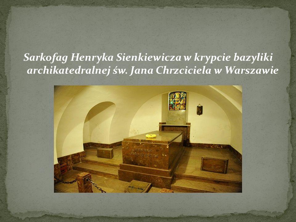 Sarkofag Henryka Sienkiewicza w krypcie bazyliki archikatedralnej św