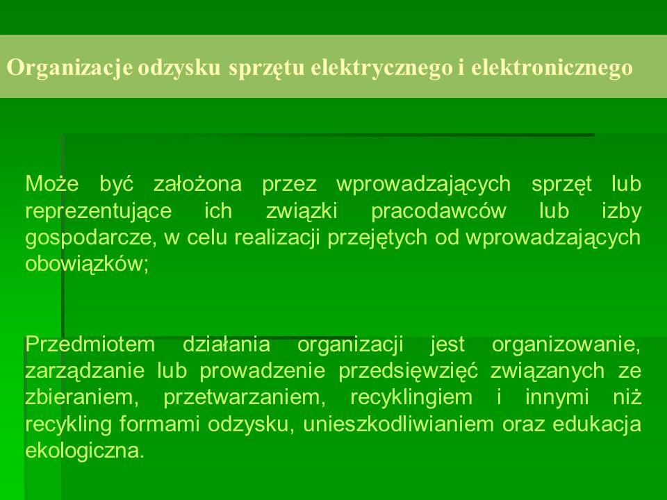 Organizacje odzysku sprzętu elektrycznego i elektronicznego