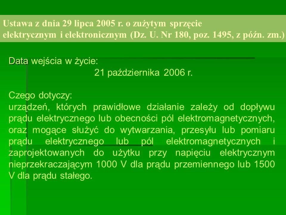 Ustawa z dnia 29 lipca 2005 r. o zużytym sprzęcie