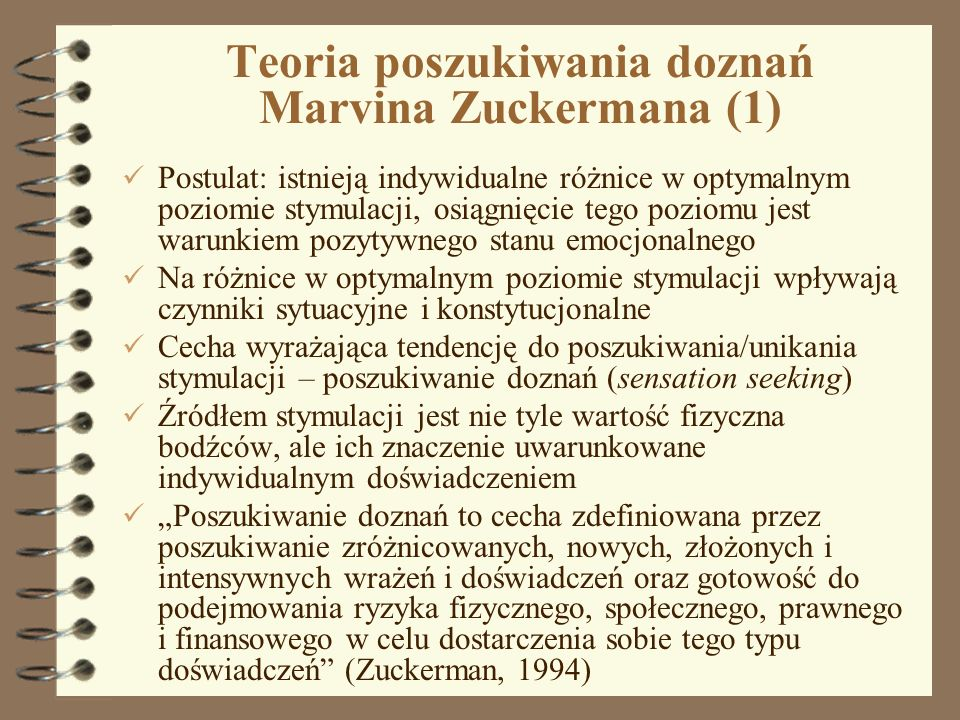 Teoria poszukiwania doznań Marvina Zuckermana (1)