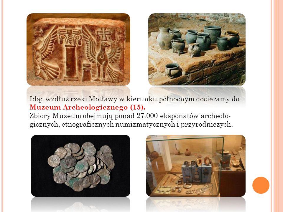 Idąc wzdłuż rzeki Motławy w kierunku północnym docieramy do Muzeum Archeologicznego (15).