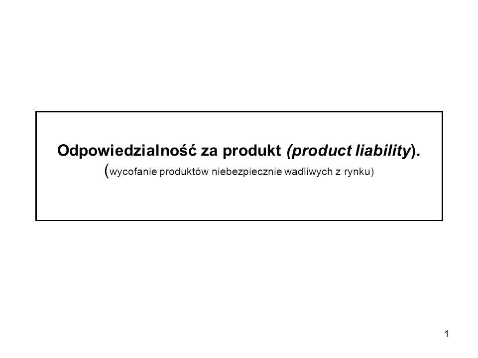 Odpowiedzialność za produkt (product liability)