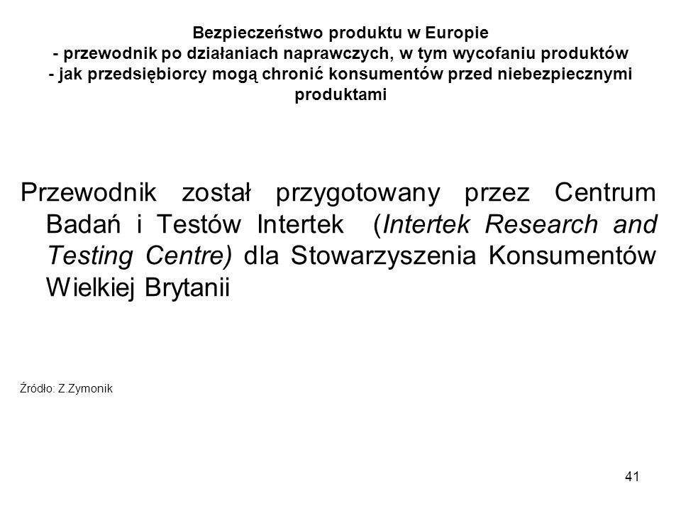 Bezpieczeństwo produktu w Europie - przewodnik po działaniach naprawczych, w tym wycofaniu produktów - jak przedsiębiorcy mogą chronić konsumentów przed niebezpiecznymi produktami
