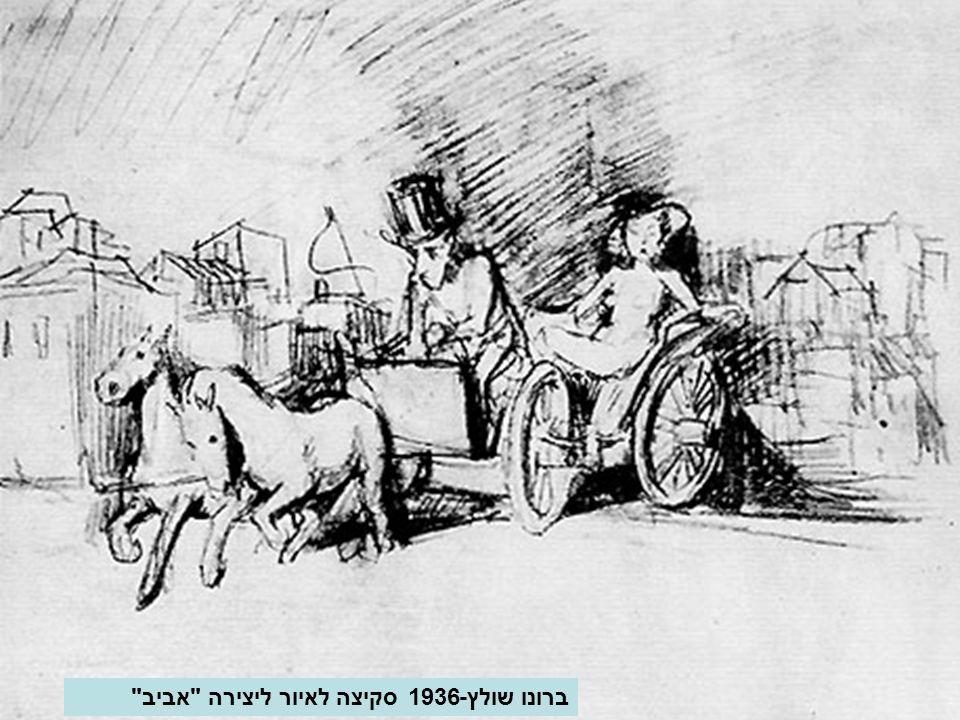 ברונו שולץ-1936 סקיצה לאיור ליצירה אביב