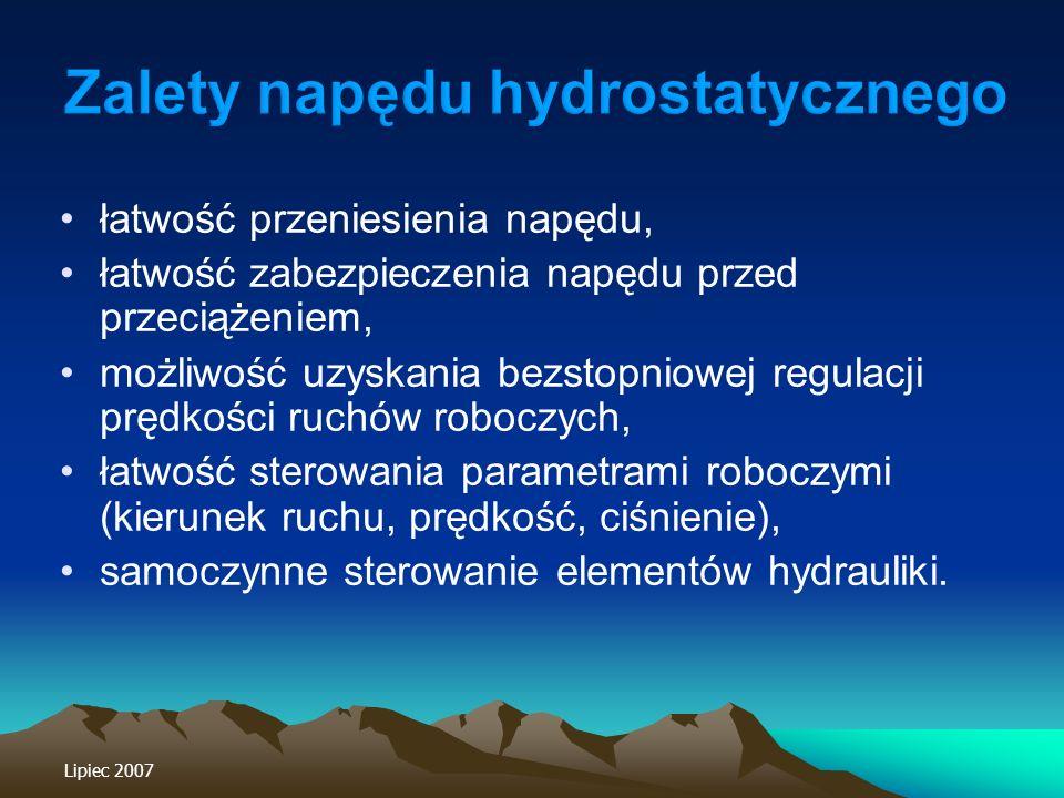 Zalety napędu hydrostatycznego