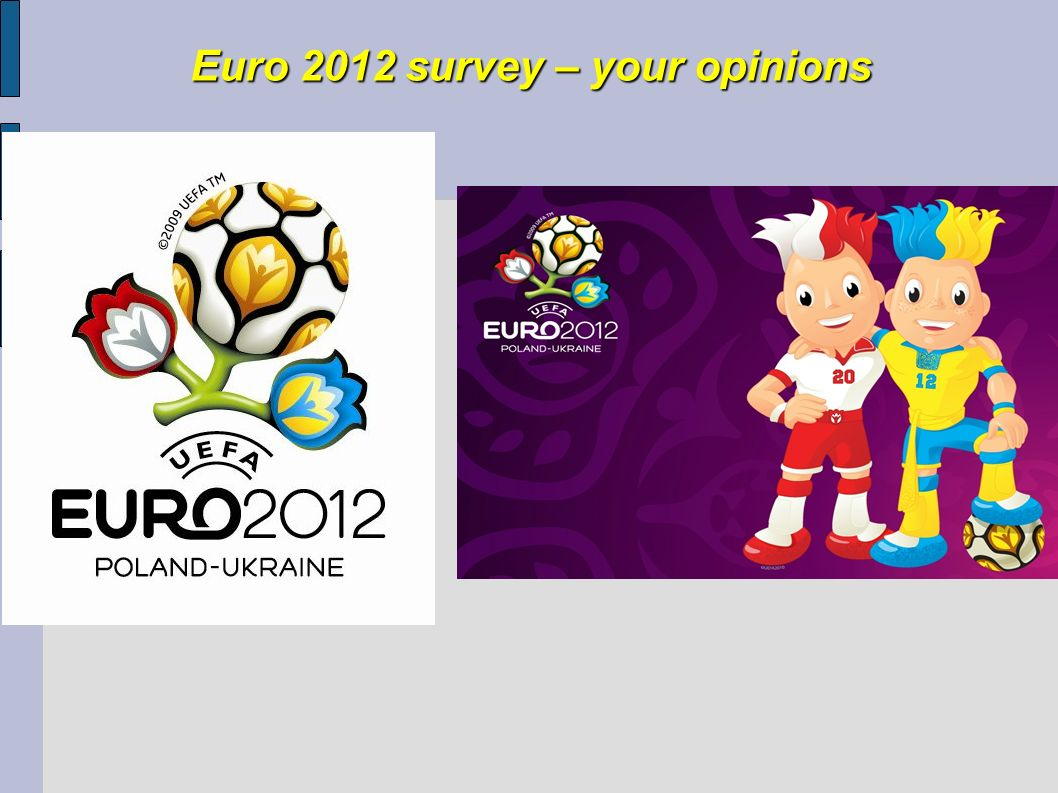Euro 2012 survey – your opinions
