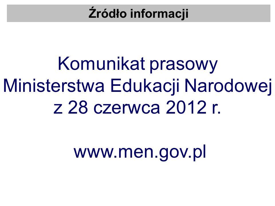 Ministerstwa Edukacji Narodowej z 28 czerwca 2012 r. www.men.gov.pl