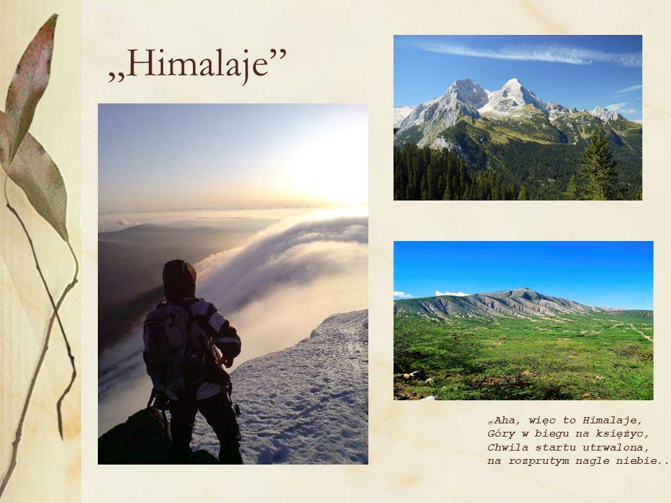 """""""Himalaje """"Aha, więc to Himalaje, Góry w biegu na księżyc,"""