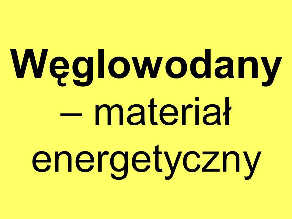 Węglowodany – materiał energetyczny