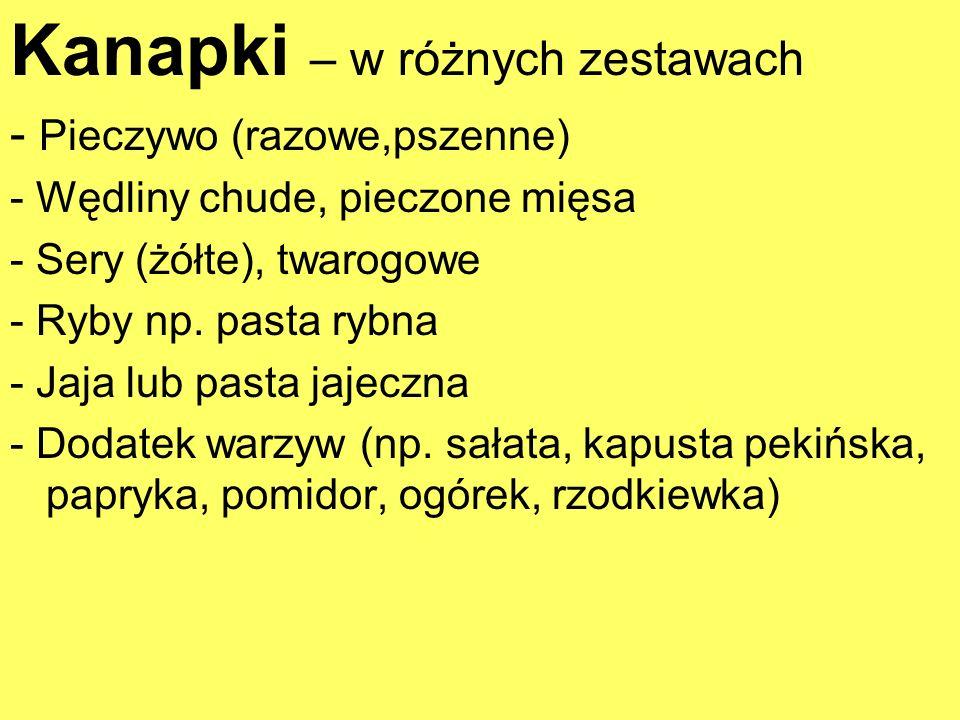 Kanapki – w różnych zestawach
