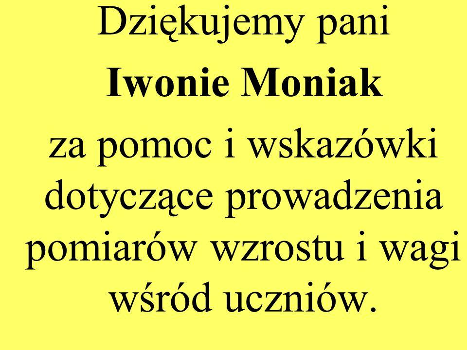 Dziękujemy paniIwonie Moniak.