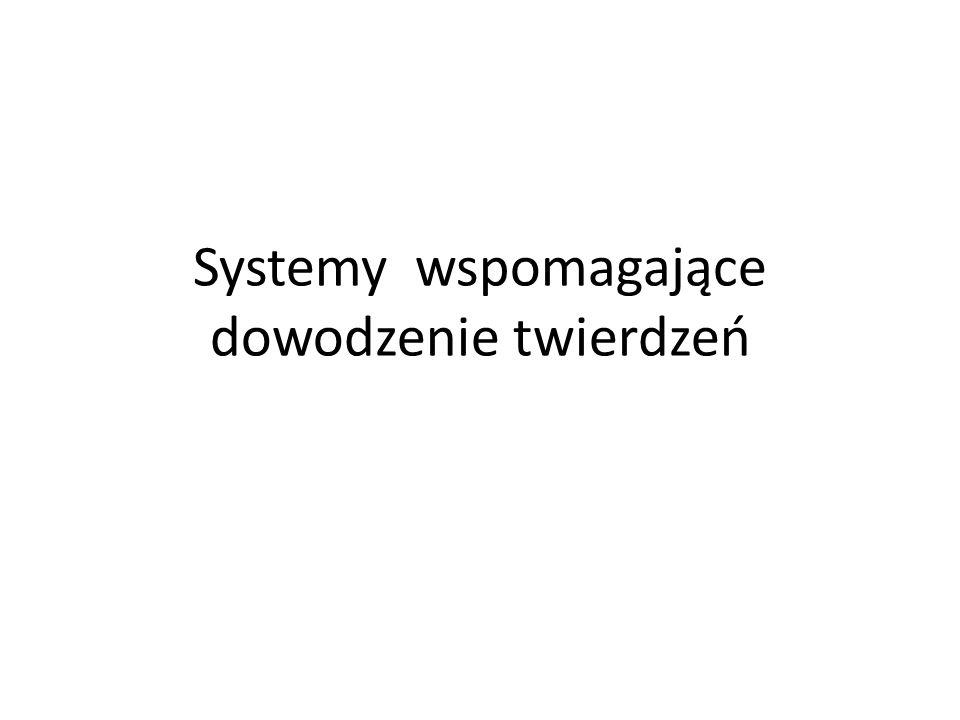 Systemy wspomagające dowodzenie twierdzeń