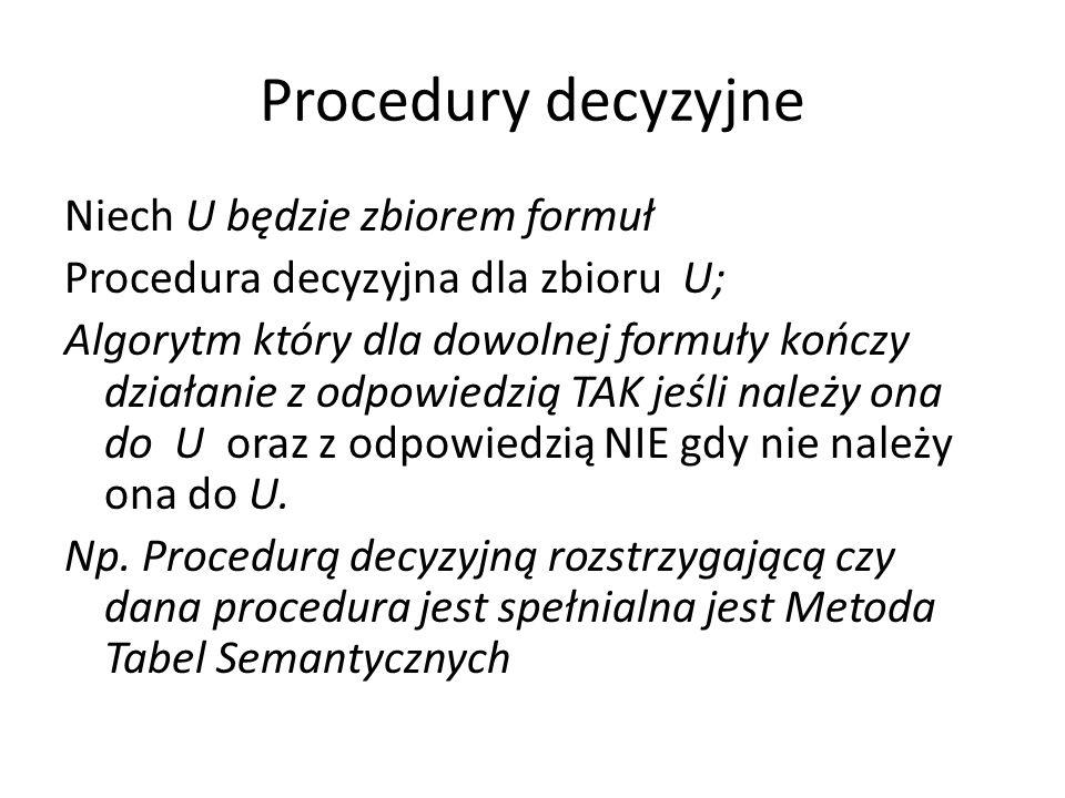 Procedury decyzyjne