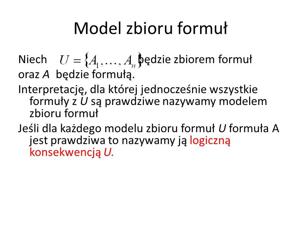 Model zbioru formuł