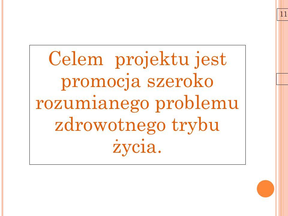 11-6-21 Celem projektu jest promocja szeroko rozumianego problemu zdrowotnego trybu życia.