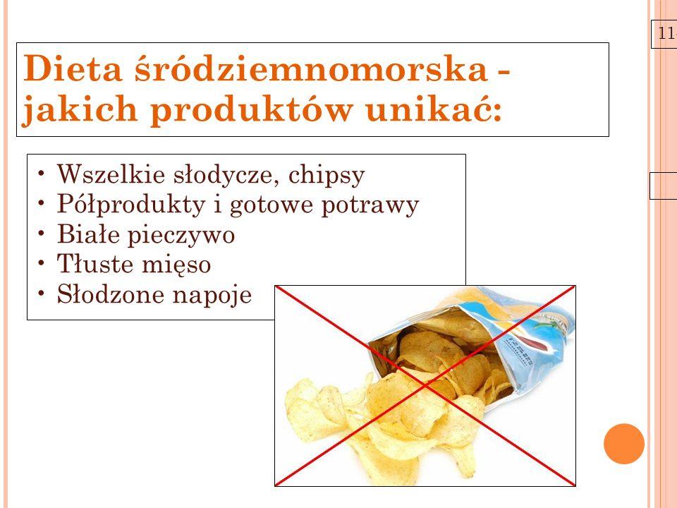 Dieta śródziemnomorska - jakich produktów unikać: