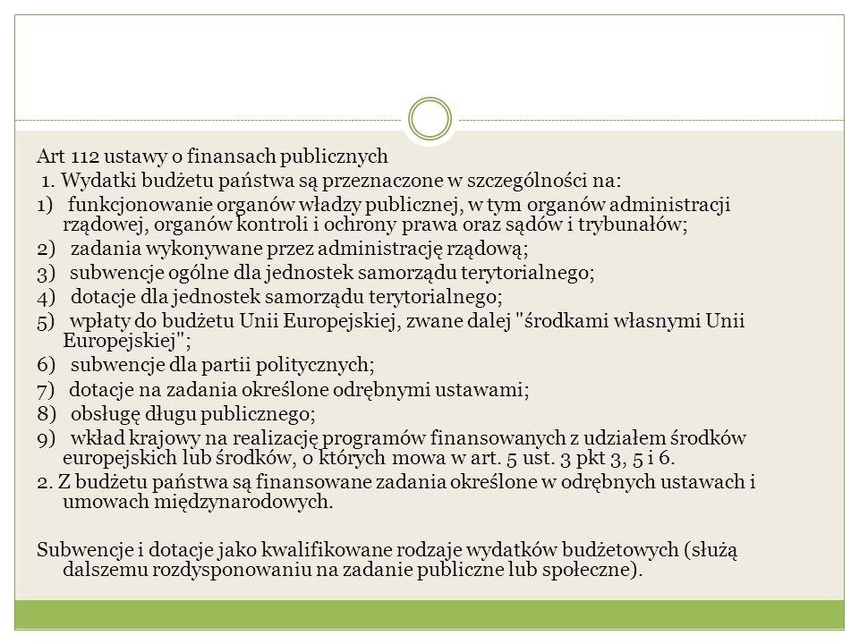 Art 112 ustawy o finansach publicznych 1