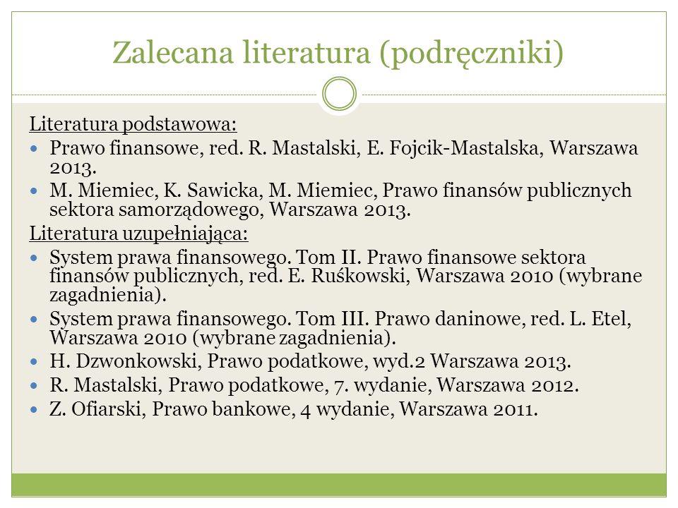 Zalecana literatura (podręczniki)