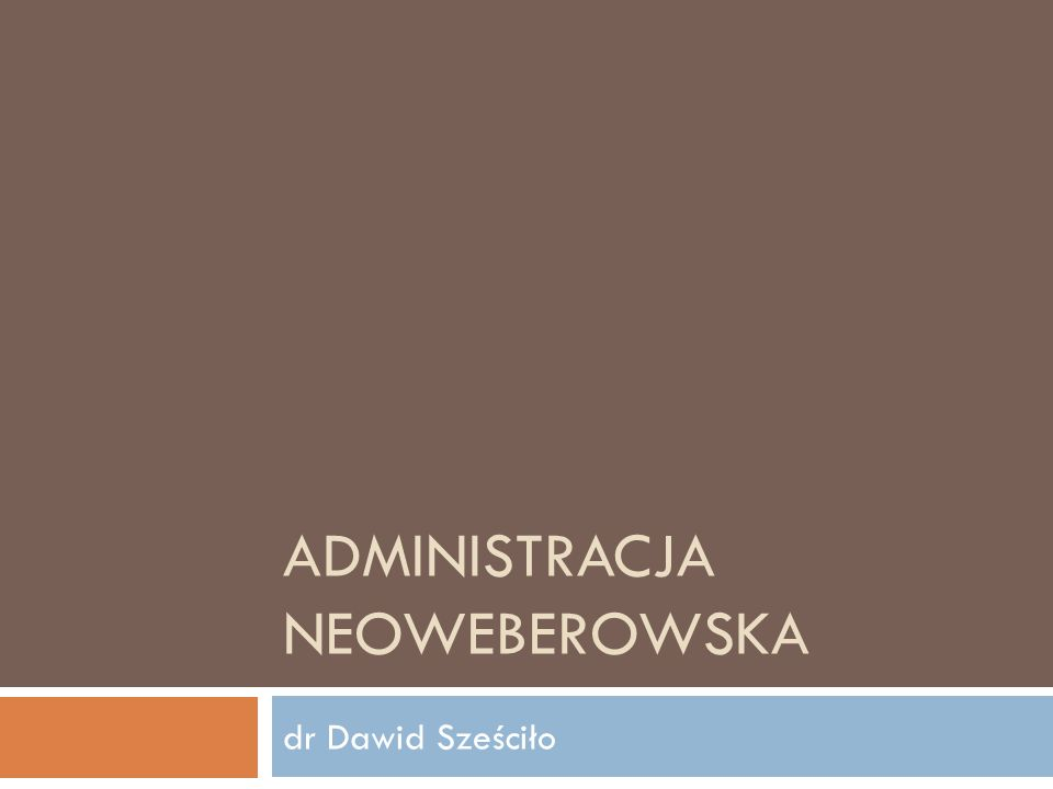 Administracja neoweberowska