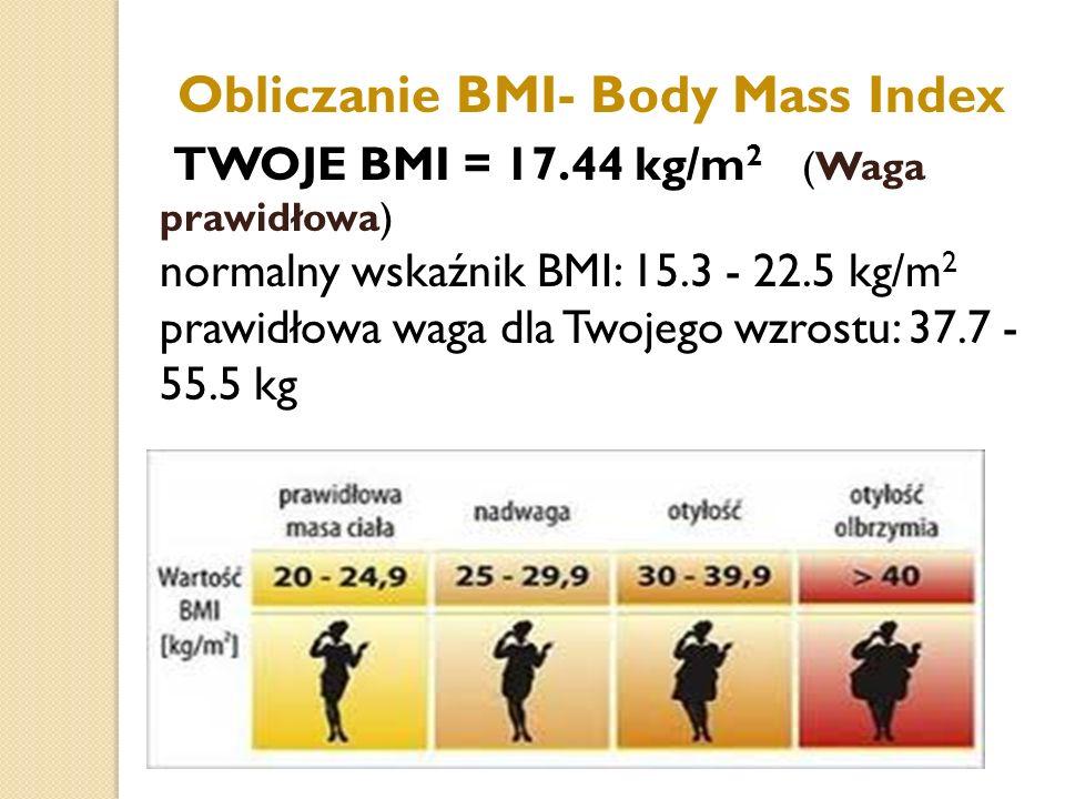 Obliczanie BMI- Body Mass Index
