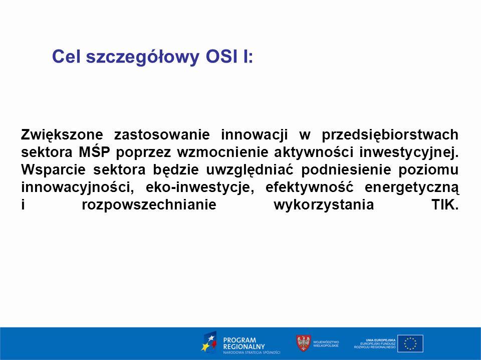 3 Cel szczegółowy OSI I: