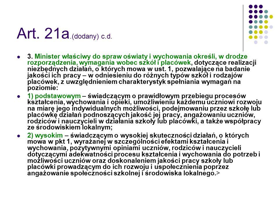 Art. 21a.(dodany) c.d.