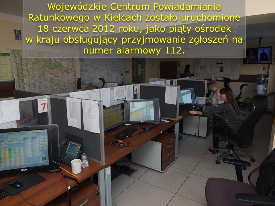 Wojewódzkie Centrum Powiadamiania Ratunkowego w Kielcach zostało uruchomione 18 czerwca 2012 roku, jako piąty ośrodek w kraju obsługujący przyjmowanie zgłoszeń na numer alarmowy 112.
