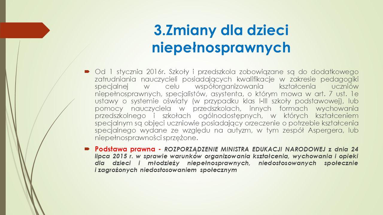3.Zmiany dla dzieci niepełnosprawnych