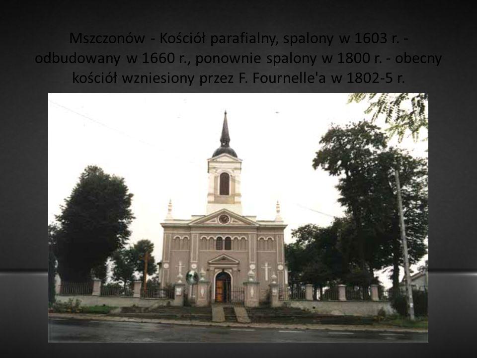 Mszczonów - Kościół parafialny, spalony w 1603 r.