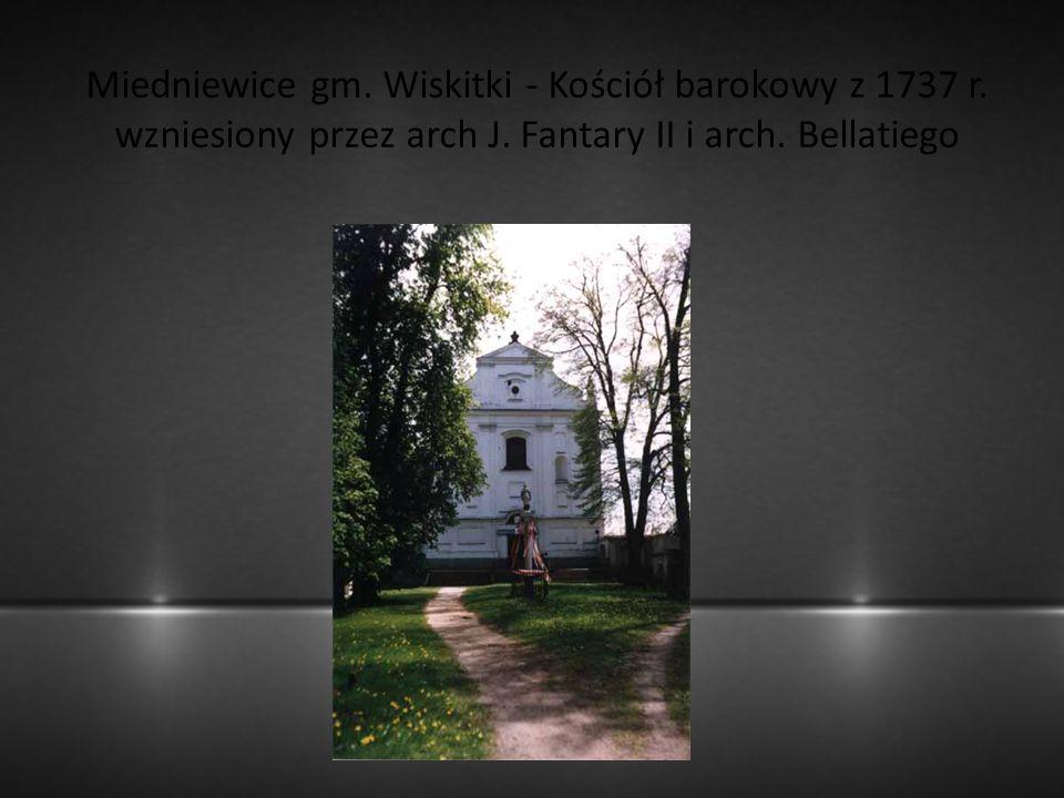 Miedniewice gm. Wiskitki - Kościół barokowy z 1737 r
