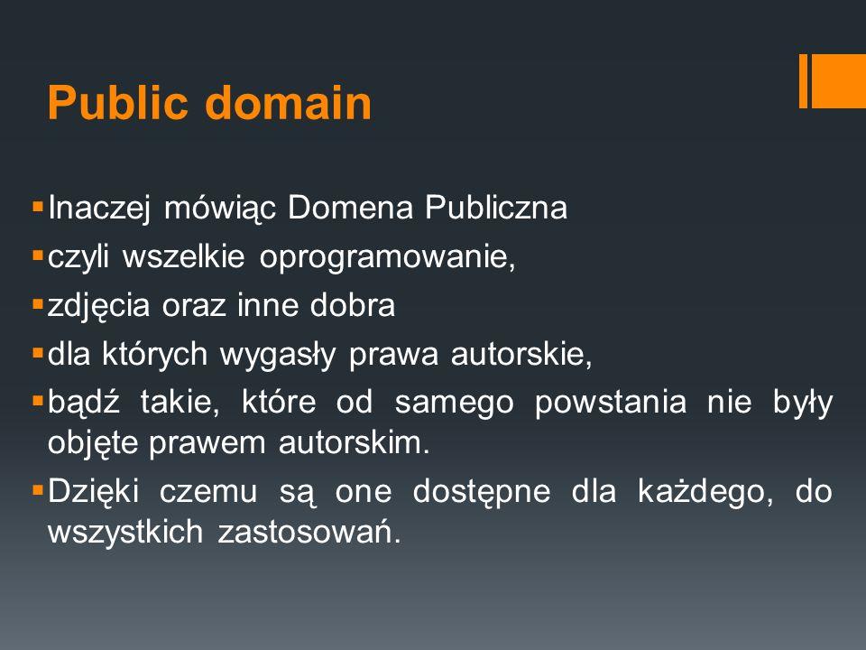 Public domain Inaczej mówiąc Domena Publiczna