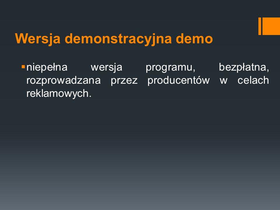Wersja demonstracyjna demo