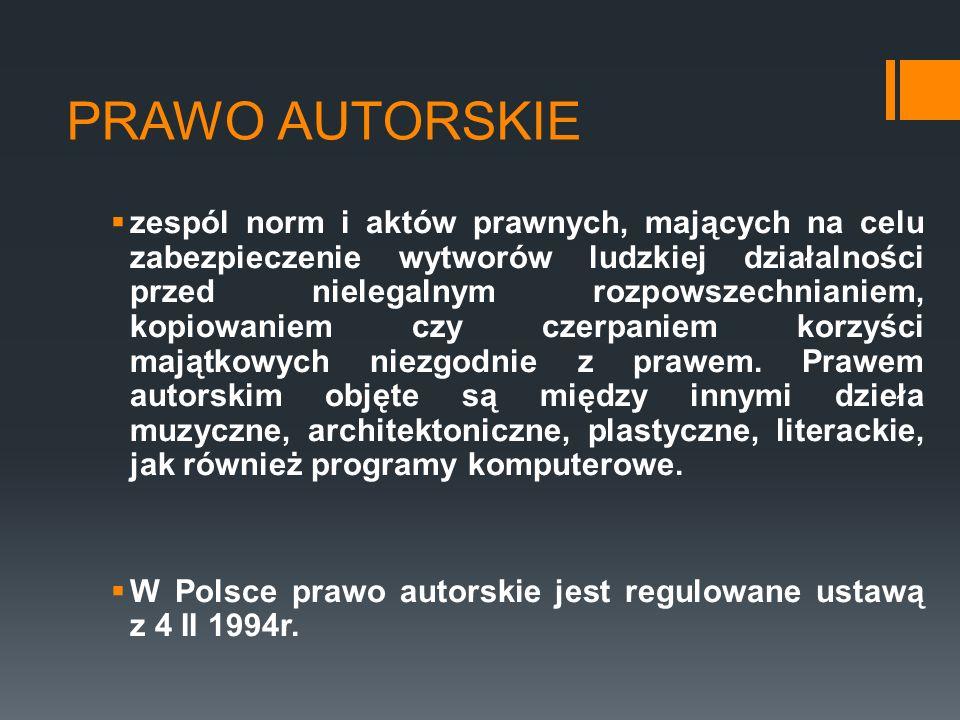 PRAWO AUTORSKIE