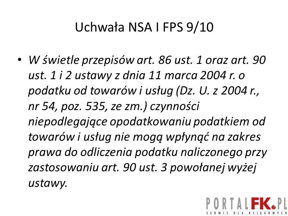 Uchwała NSA I FPS 9/10
