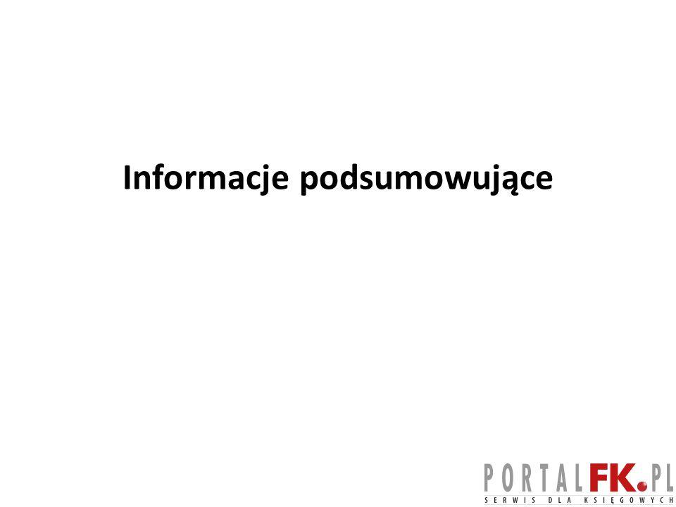 Informacje podsumowujące