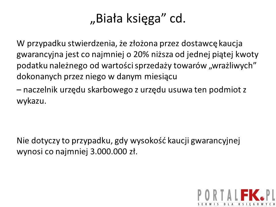 """Biała księga cd."