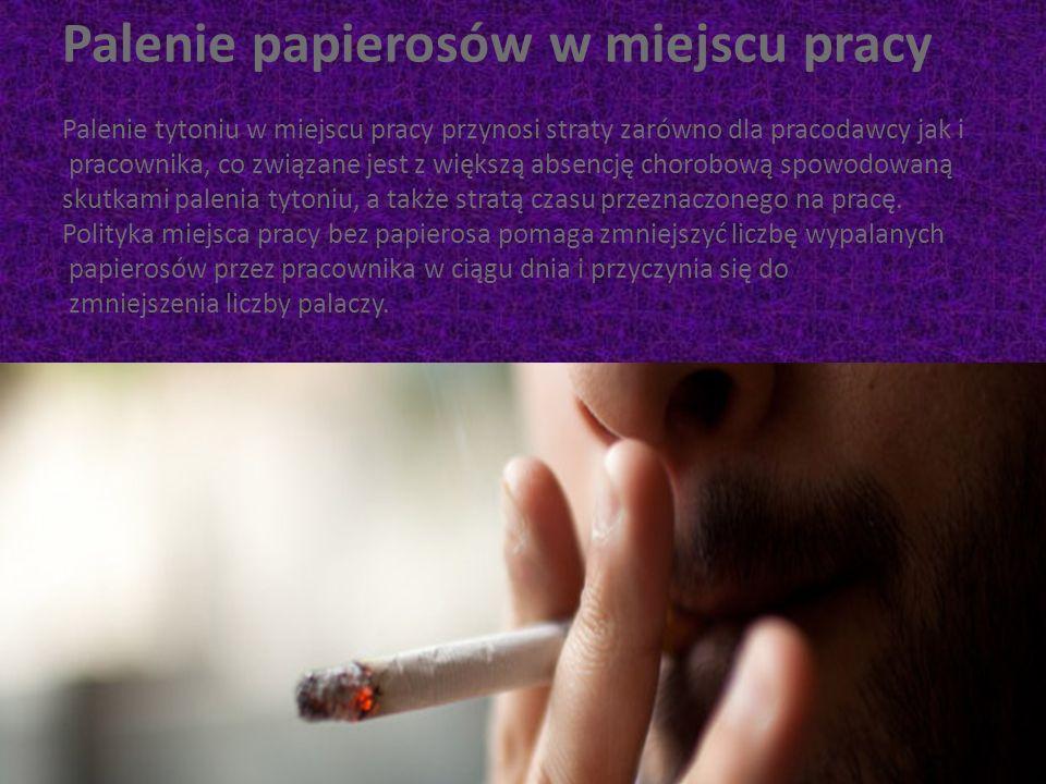 Palenie papierosów w miejscu pracy