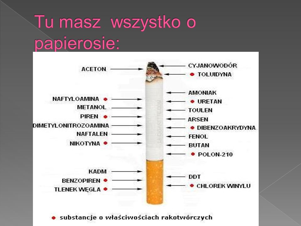 Tu masz wszystko o papierosie: