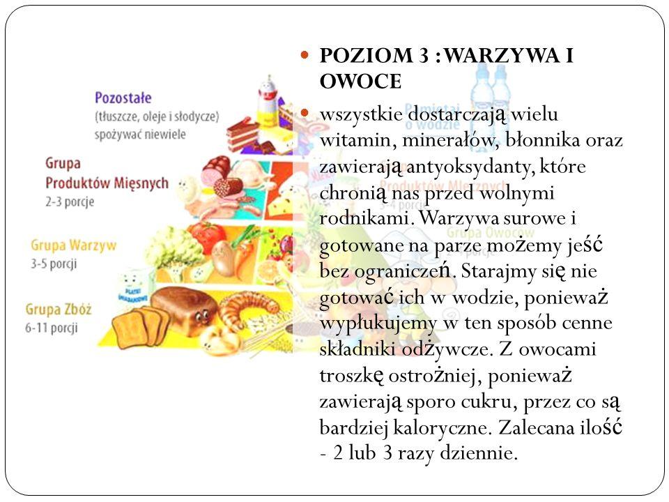 POZIOM 3 : WARZYWA I OWOCE