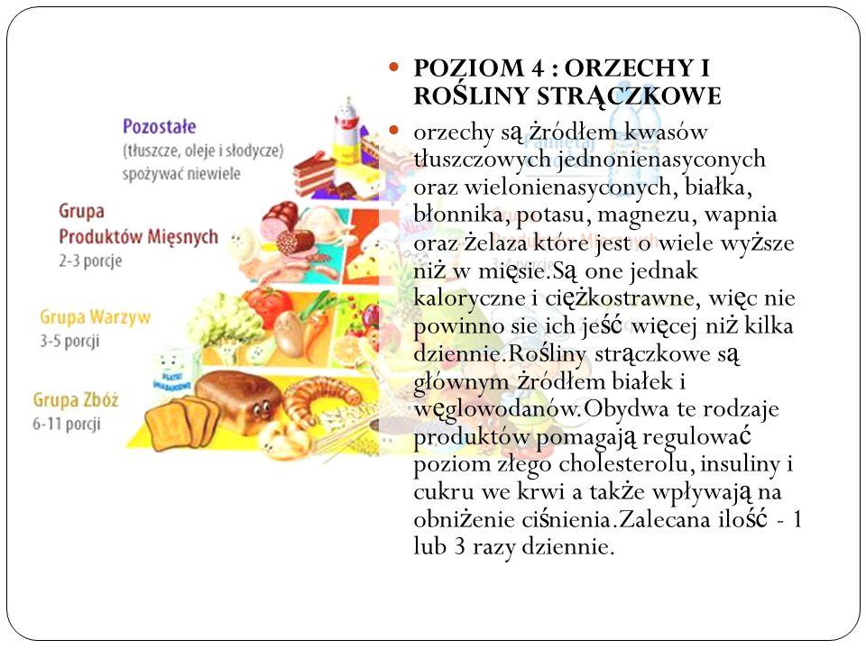 POZIOM 4 : ORZECHY I ROŚLINY STRĄCZKOWE