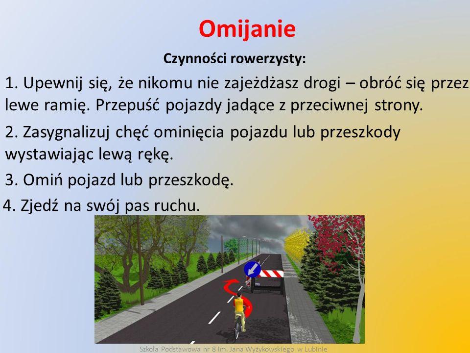 Czynności rowerzysty: