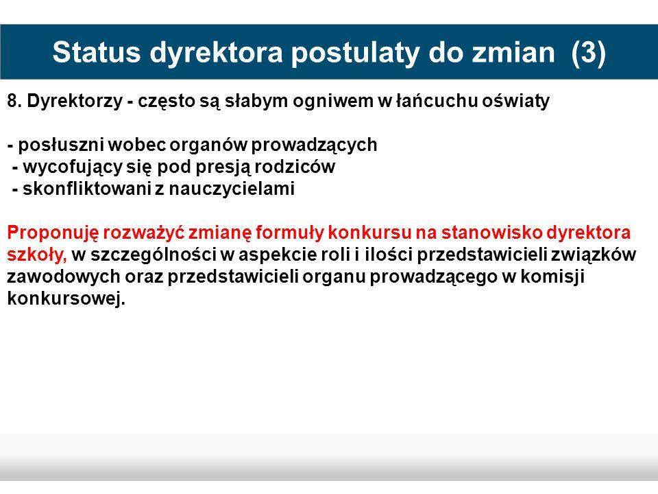 Status dyrektora postulaty do zmian (3)