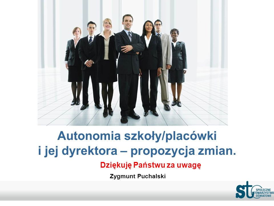 Autonomia szkoły/placówki i jej dyrektora – propozycja zmian.