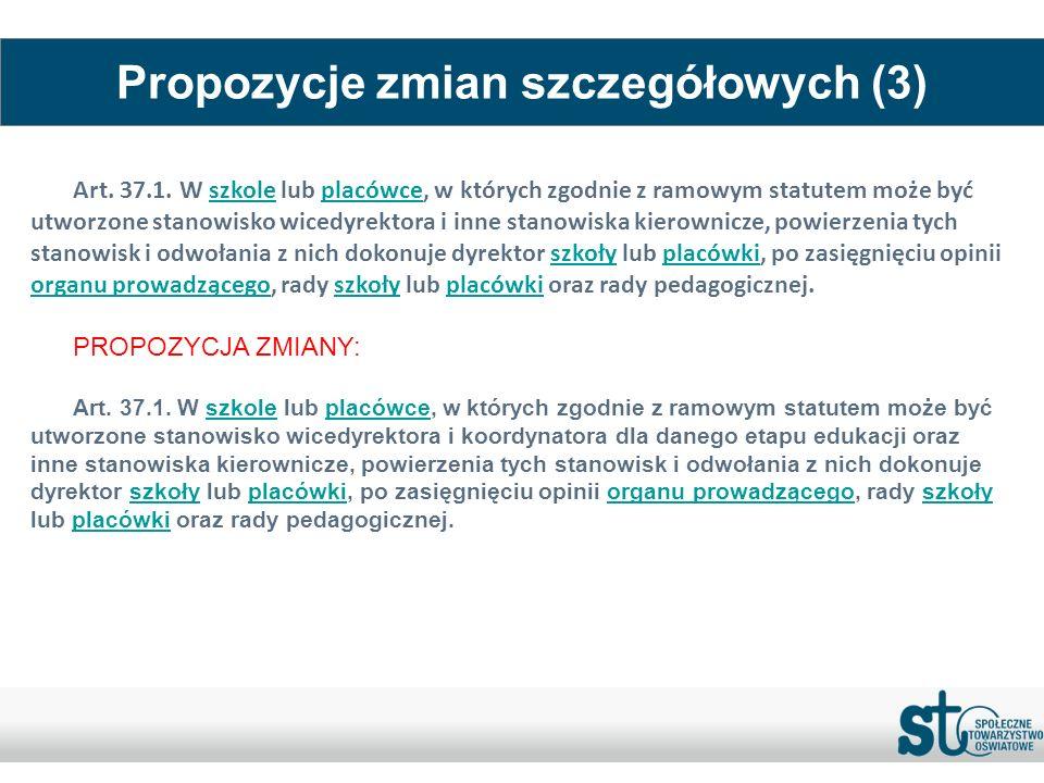 Propozycje zmian szczegółowych (3)