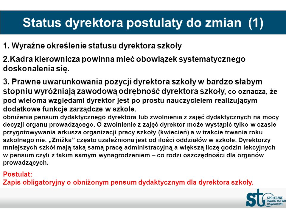 Status dyrektora postulaty do zmian (1)