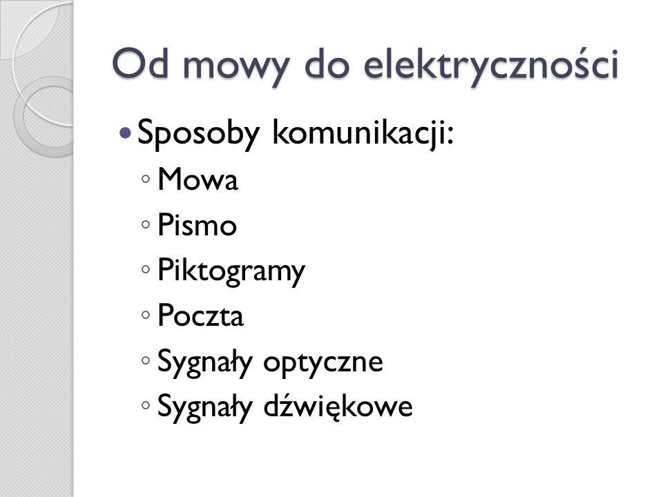 Od mowy do elektryczności