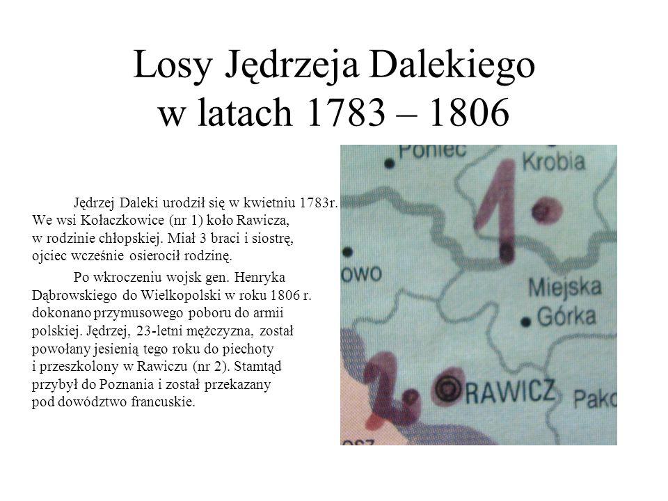 Losy Jędrzeja Dalekiego w latach 1783 – 1806