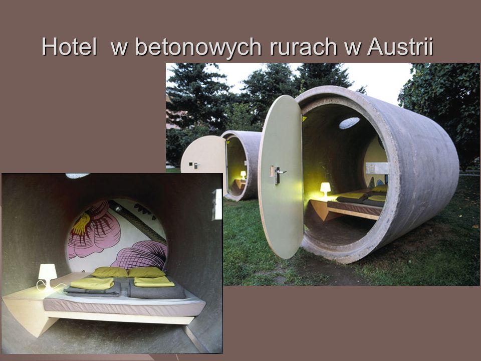 Hotel w betonowych rurach w Austrii