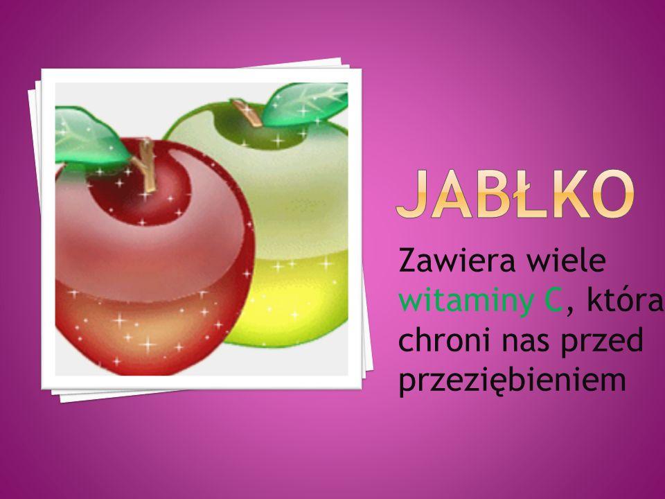 JAbłko Zawiera wiele witaminy C, która chroni nas przed przeziębieniem