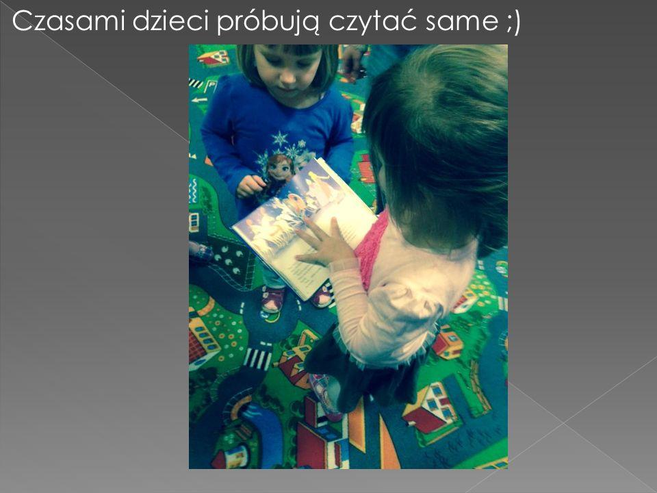 Czasami dzieci próbują czytać same ;)